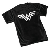 Image: Wonder Woman T-Shirt: Brushed Symbol  (S) - Graphitti Designs