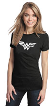 Image: Wonder Woman Women's T-Shirt: Brushed Symbol  (L) - Graphitti Designs
