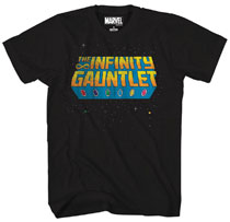 Image: Marvel T-Shirt: Stellar Glove [Black]  (L) - Mad Engine