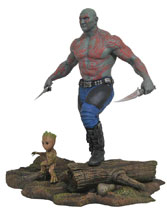 Image: Marvel Gallery PVC Diorama: Guardians of the Galaxy Vol. 2 - Drax & Groot  - Diamond Select Toys LLC
