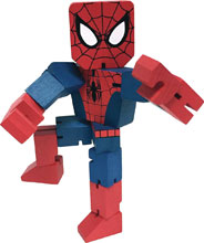 Image: Marvel Wood Warriors Action Figure: Spider-Man  (8-inch) - Ppw Toys