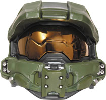 Image: Halo Master Chief Adult Light-Up Deluxe Helmet  (Youth) - Disguise Inc
