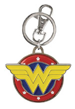 Image: DC Classic Wonder Woman Color Pewter Keyring Inner Case  - Monogram Products