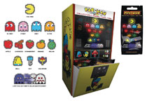 Image: Pac-Man Enamel Pin 28-Piece Blind Mystery Box Display  - Cmd Collectibles