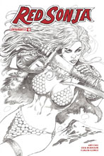 Image: Red Sonja Vol. 04 #19 (cover H incentive - Duursema B&W) (30-copy) - Dynamite