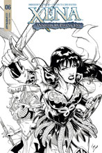 Image: Xena: Warrior Princess Vol. 02 #6 (cover D incentive - Cifuentes B&W) (20-copy) - Dynamite