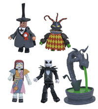 Image: Nightmare Before Christmas Deluxe Minimates Box Set: Town Hall Fountain  - Diamond Select Toys LLC
