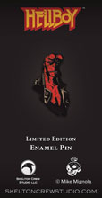Image: Hellboy Limited Edition Enamel Pin: Hellboy Bust  - Skelton Crew Studio, LLC