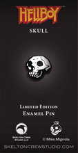 Image: Hellboy Limited Edition Enamel Pin: Skull  - Skelton Crew Studio, LLC