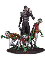 Image: Dark Knights: Metal Statue - Batman Who Laughs & Robins  (Deluxe) - DC Comics