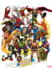 Image: History of the Marvel Universe #1 (incentive Hidden Gem cover - Buscema) - Marvel Comics