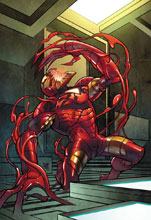 Image: Tony Stark: Iron Man #14 (variant Carnage-ized cover - Ferry) - Marvel Comics