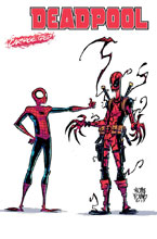Image: Deadpool #15 (variant Carnage-ized cover - Young) - Marvel Comics