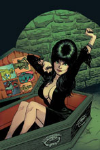 Image: Elvira: Mistress of the Dark #12 (incentive cover - Cermak virgin) (10-copy) - Dynamite