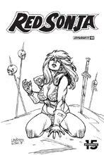 Image: Red Sonja Vol. 05 #6 (incentive cover - Linsner B&W) (30-copy) - Dynamite