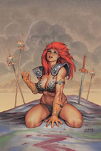 Image: Red Sonja #6 (variant cover - Linsner virgin) - Dynamite