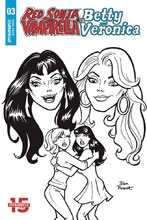 Image: Red Sonja and Vampirella Meet Betty and Veronica #3 (incentive cover - Parent B&W) (10-copy) - Dynamite