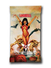 Image: Vampirella 50th Anniversary Ultra Trading Cards Individual Foil Pack  - Dynamite