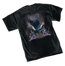 Image: DC Heroes T-Shirt: Batman Smokin  (L) - Graphitti Designs