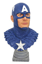 Image: Legends in 3D Marvel Bust: Captain America  (1/2 scale) - Diamond Select Toys LLC