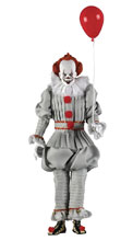 Image: It 2017 Action Figure: Pennywise  (Retro) (8-inch) - Neca