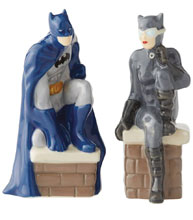 Image: DC Salt & Pepper Shaker: Batman and Catwoman  - Enesco Corporation