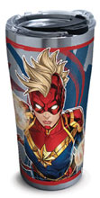 Image: Captain Marvel Stainless Steel Tumbler: Mohawk  (w/Lid) (20 ounces) - Tervis Tumbler Co.