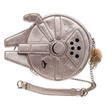 Image: Star Wars Crossbody Handbag: Millenium Falcon  - Bioworld Merchandising