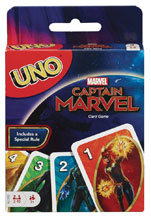 Image: Uno Captain Marvel Card Game Case  - Mattel Toys