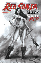 Image: Red Sonja: Black, White & Red #1 (cover K incentive 1:50 - Parrillo B&W) - Dynamite