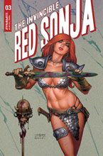 Image: Invincible Red Sonja #3 (cover B - Linsner) - Dynamite