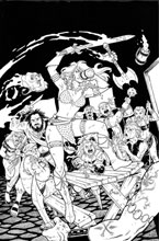 Image: Invincible Red Sonja #3 (cover K incentive 1:40 - Conner line art virgin) - Dynamite