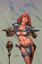Image: Invincible Red Sonja #3 (cover N - Linsner virgin) - Dynamite