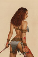 Image: Invincible Red Sonja #3 (cover O - Celina virgin) - Dynamite