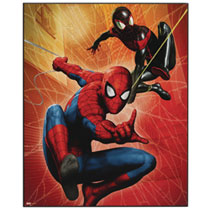 Image: Marvel Heroes Wood Wall Art: Spider-Man Jumping  (16-inch) - Open Road Brands LLC