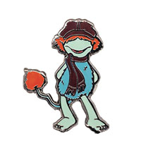 Image: Fraggle Rock Enamel Pin: Boober Fraggle  (1.25-inch) - Little Shop of Pins