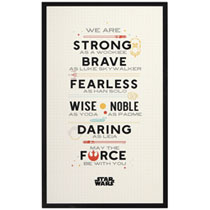 Image: Star Wars Wood Wall Art: Constitution  (25-inch) - Open Road Brands LLC