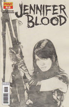 Image: Garth Ennis' Jennifer Blood #11 (10-copy Bradstreet B&W incentive cover) - D. E./Dynamite Entertainment
