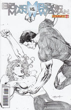 Image: Bionic Man vs. Bionic Woman #1 (25-copy Syaf pencil incentive cover) - D. E./Dynamite Entertainment