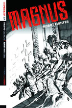 Image: Magnus: Robot Fighter #11 (Lau b&w variant incentive cover - 11021) (10-copy) - Dynamite