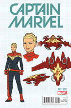 Image: Captain Marvel #1 (Anka Design variant cover - 00161) - Marvel Comics