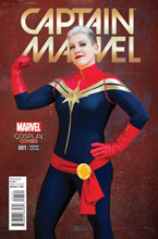 Image: Captain Marvel #1 (Cosplay variant cover - 00121) - Marvel Comics