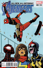 Image: All-New, All-Different Avengers #4 (Rubio Deadpool variant cover - 00421) - Marvel Comics