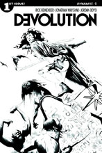 Image: Devolution #1 (Lee b&w variant incentive cover - 01021) (10-copy) - Dynamite