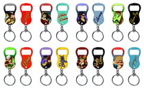 Image: DC Bombshells Keychain Bottle Opener 48-Piece Display  -