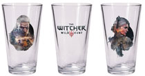 Image: Witcher Pint Glass Set: Geralt & Ciri  - Dark Horse Comics