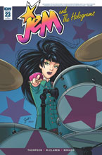 Image: Jem and the Holograms #23 (incentive cover - Gisele Lagace) (10-copy) - IDW Publishing