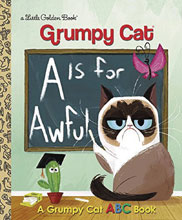 Image: Grumpy Cat: A Is for Awful ABC Little Golden Book HC  - Golden Books