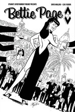 Image: Bettie Page #7 (cover D incentive - Chantler B&W) (10-copy)  [2018] - Dynamite