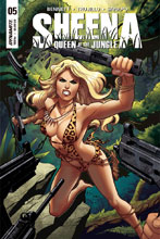 Image: Sheena Queen of the Jungle #5 (cover B - Sanapo) - Dynamite
